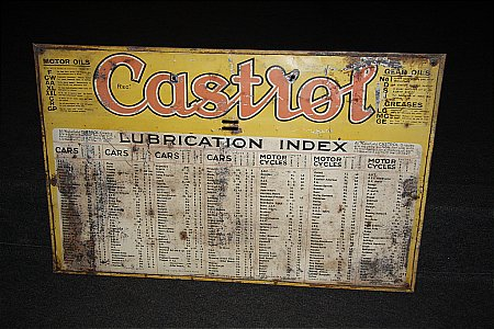 CASTROL OIL CABINET SIGN - click to enlarge