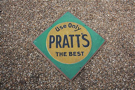 PRATT'S EMBOSSED SIGN - click to enlarge