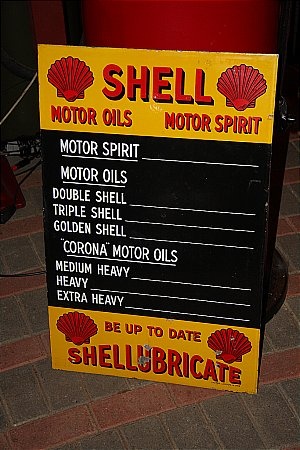 SHELL EMNAMEL PRICE SIGN - click to enlarge