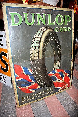 DUNLOP CORD PICTORIAL SIGN - click to enlarge