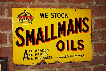 SMALLMANS OILS - click to enlarge