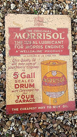 MORRISOL TIN SIGN - click to enlarge