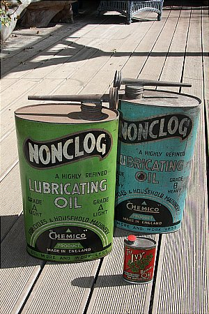 CHEMICO OIL DISPLAY TINS. - click to enlarge