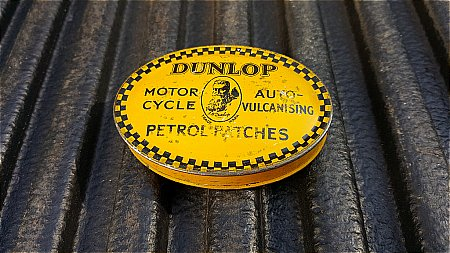 DUNLOP MOTOR CYCLE PATCHES. - click to enlarge