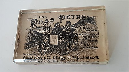 ROSS PETROL PAPERWEIGHT - click to enlarge