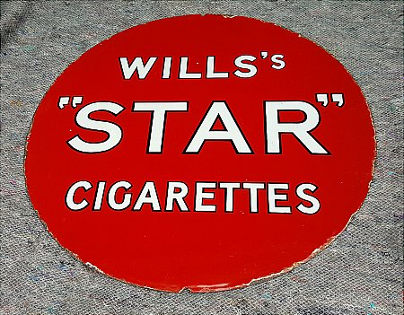 WILLS' STAR CIGARETTES - click to enlarge