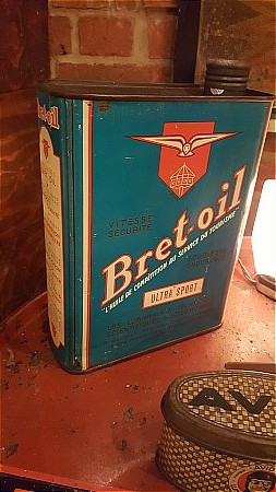 BRET-OIL LITRE CAN - click to enlarge