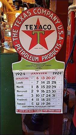 TEXACO 1924 CALENDER - click to enlarge