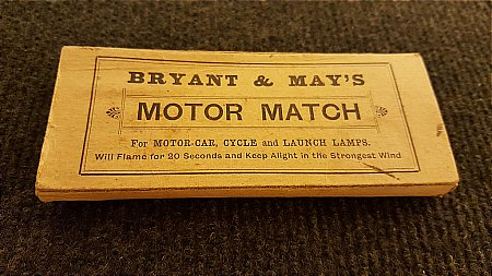 BRYANT MOTOR MATCHES - click to enlarge