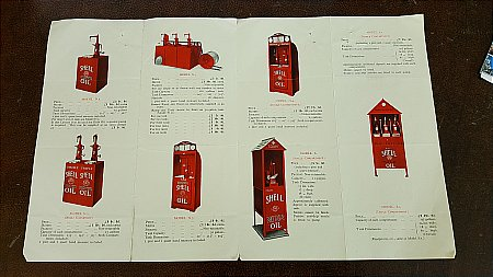 SHELL OIL CABINETS BROCHURE - click to enlarge