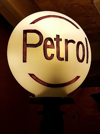 ETCHED PETROL GLOBE - click to enlarge