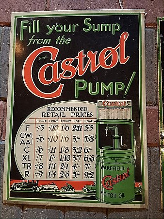 CASTROL OIL TIN SIGN - click to enlarge