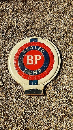 B.P. SEALED PUMP SIGN - click to enlarge