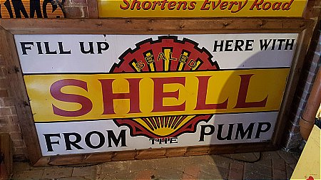 "SHELL 6ft x 3ft ""FROM THE PUMP"". - click to enlarge"