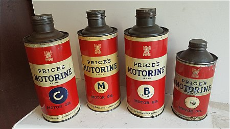PRICES MOTORINE TINS. - click to enlarge