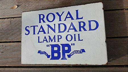 B.P. ROYAL STANDARD LAMP OIL - click to enlarge