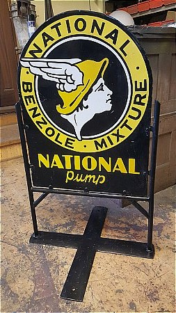 NATIONAL BENZOLE PUMP SIGN - click to enlarge