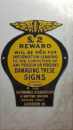 A.A. REWARD SIGN - click to enlarge