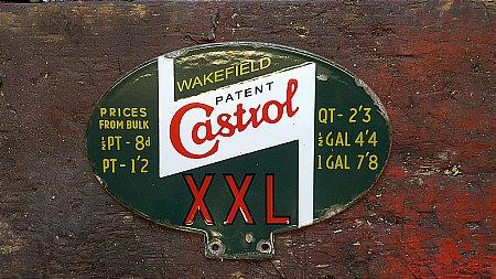 CASTROL OIL CABINET SIGN - click to enlarge