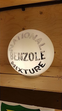 "NATIONAL BENZOLE 11"" BALL GLOBE - click to enlarge"