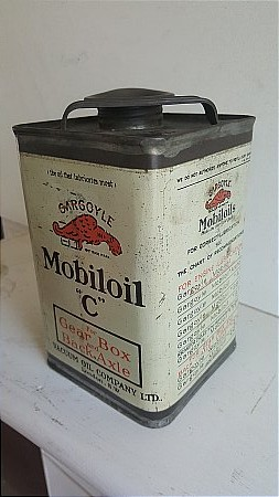 """MOBIL OIL """"C"""" CAN - click to enlarge"""