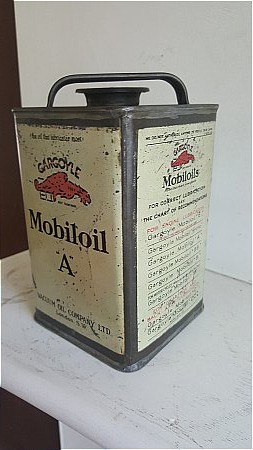"""MOBIL OIL """"A"""" CAN - click to enlarge"""