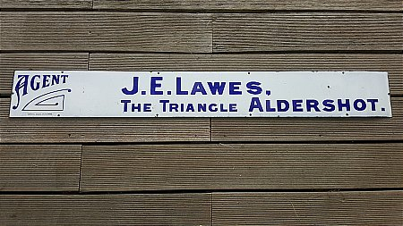 J.E LAWES CAB  SIGN - click to enlarge