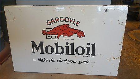 MOBIL ENAMEL OIL CABINET DOOR - click to enlarge