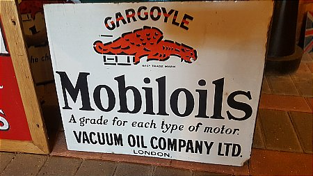 MOBILOIL DOUBLE SIDED SIGN - click to enlarge