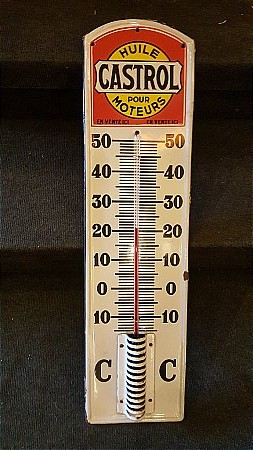 CASTROL FRENCH THERMOMETER - click to enlarge