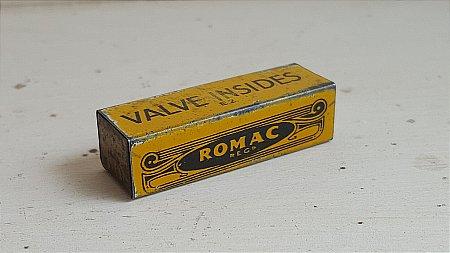 ROMAC VALVE TIN - click to enlarge
