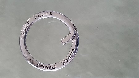 LODGE PLUGS KEYRING - click to enlarge