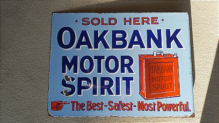 OAKBANK MOTOR SPIRIT - click to enlarge