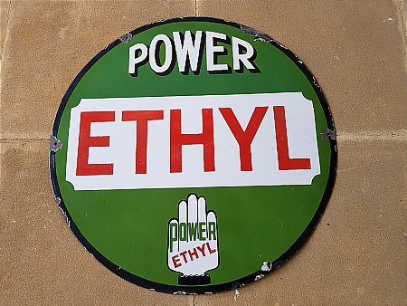 POWER ETHYL SIGN. - click to enlarge