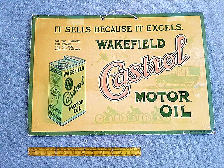 CASTROL OIL SHOWCARD - click to enlarge