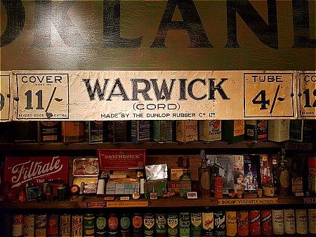 DUNLOP WARWICK SHOWCARD - click to enlarge