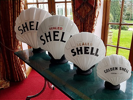 "SHELL SERIES OF ""FAT"" GLOBES - click to enlarge"