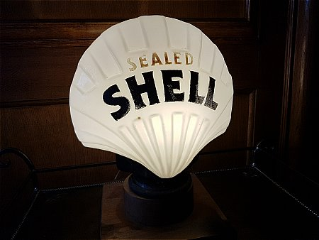 """SEALED SHELL 12"""" GLOBE - click to enlarge"""