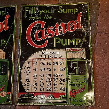 CASTROL PRICE SIGN - click to enlarge
