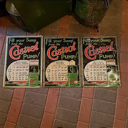 CASTROL OIL PRICE SIGNS - click to enlarge