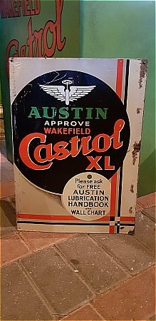 AUSTIN CASTROL SIGN. - click to enlarge
