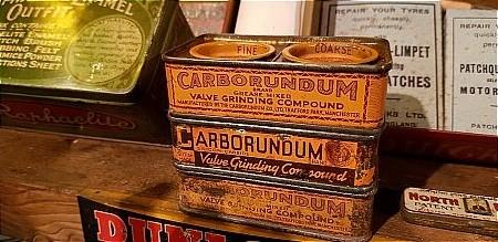 CARBORUNDUM TINS - click to enlarge