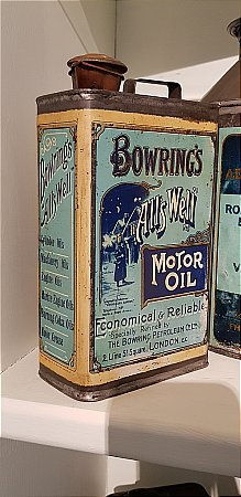 BOWRING'S MOTOR OIL Can - click to enlarge
