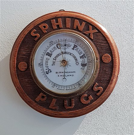 SPHINX PLUGS BAROMETER - click to enlarge