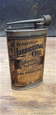 SUPERIOR CYCLE OIL TIN - click to enlarge