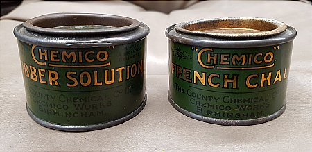 CHEMICO TINS - click to enlarge