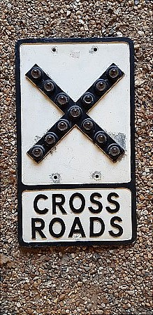 CROSS ROADS SIGN - click to enlarge