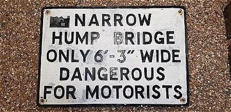 "HUMP BRIDGE 6ft 3"" ROAD SIGN - click to enlarge"