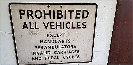 PROHIBITED ALL VEHICLES - click to enlarge