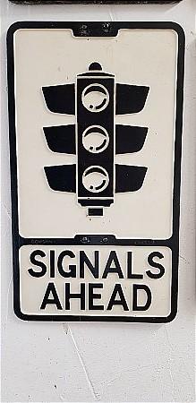 SIGNALS AHEAD ROAD SIGN - click to enlarge